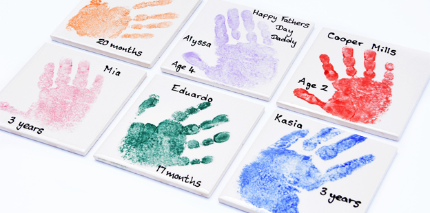 Hand print tiles
